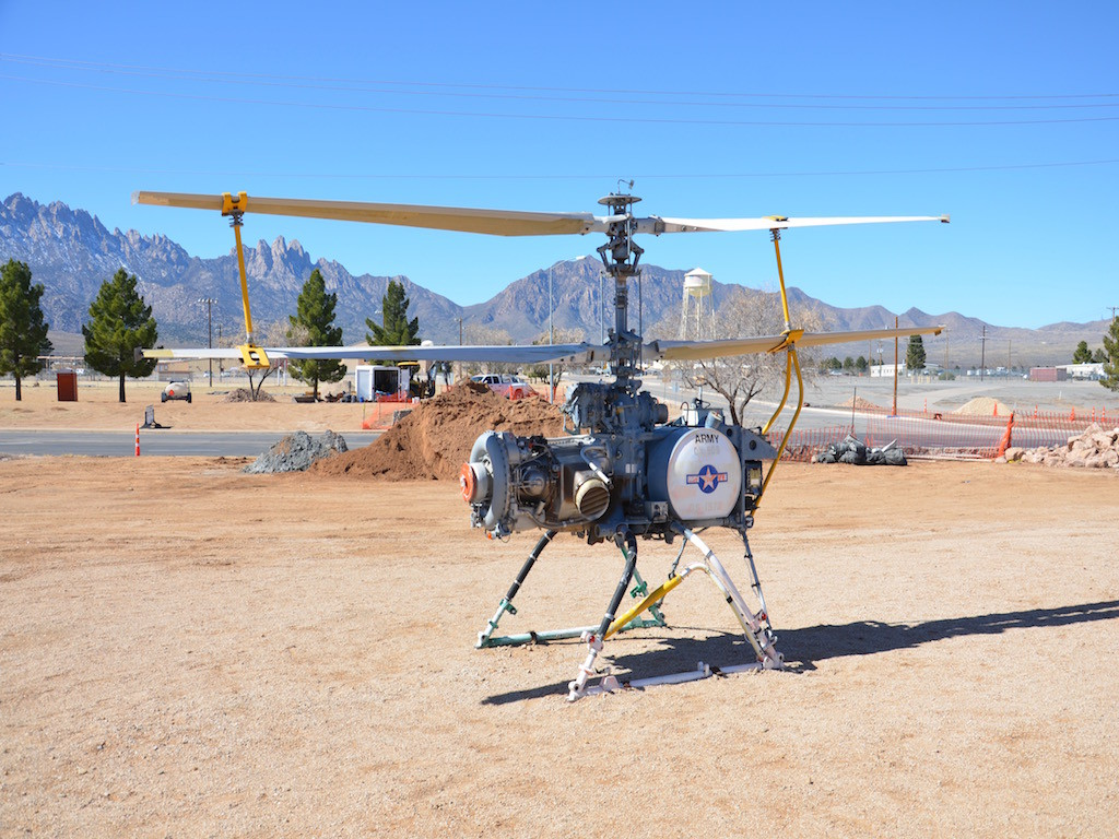 Some kind of helicopter drone built for the Army.