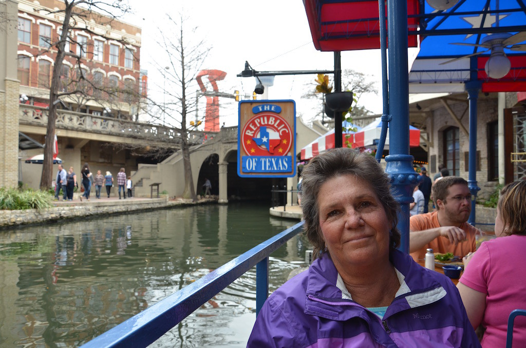 Jan at The Republic of Texas BBQ Restaurant on the river walk