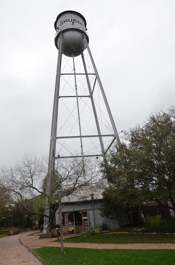 non-working water tower above the visitor's center.
