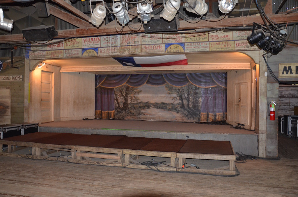 Stage in the dance hall