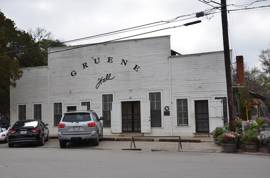 "Gruene Dance Hall (pronounced ""green"" we're told!)"
