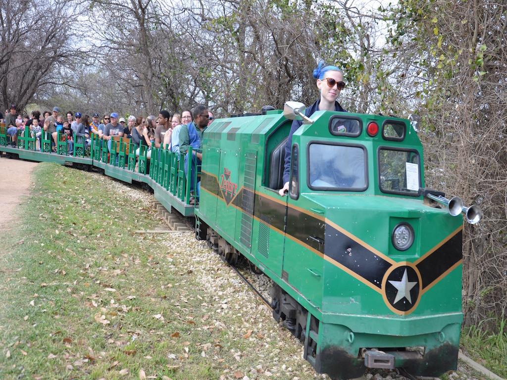 Hmmm, that engineer's hair matches the train!