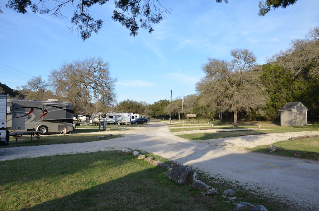 Empty campground (temporarily until Spring Break at least)