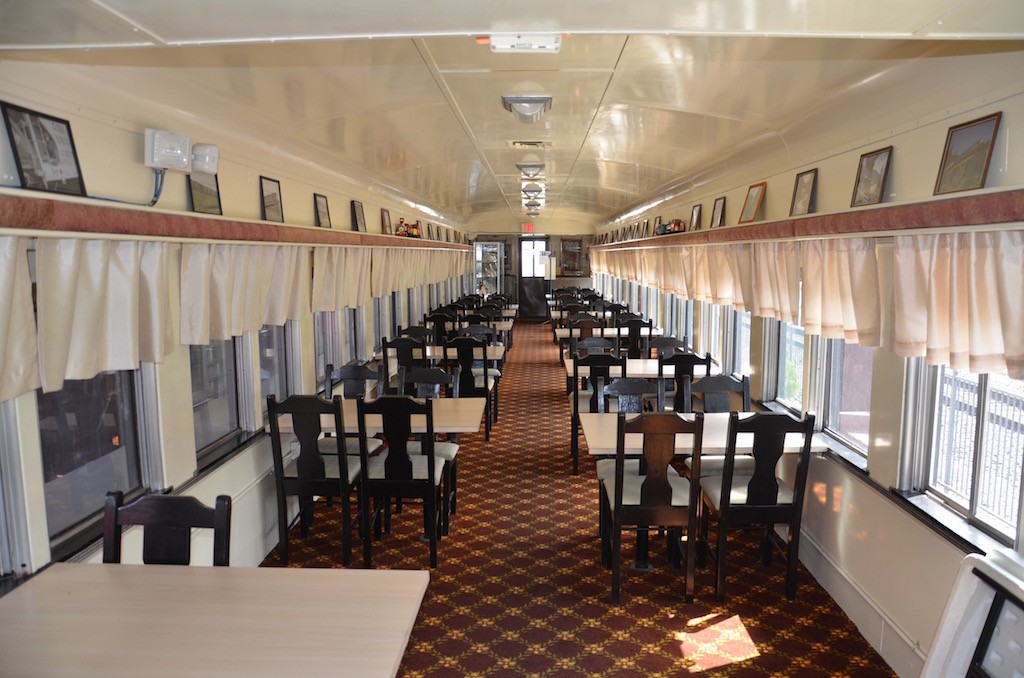 Dining car used for social events.