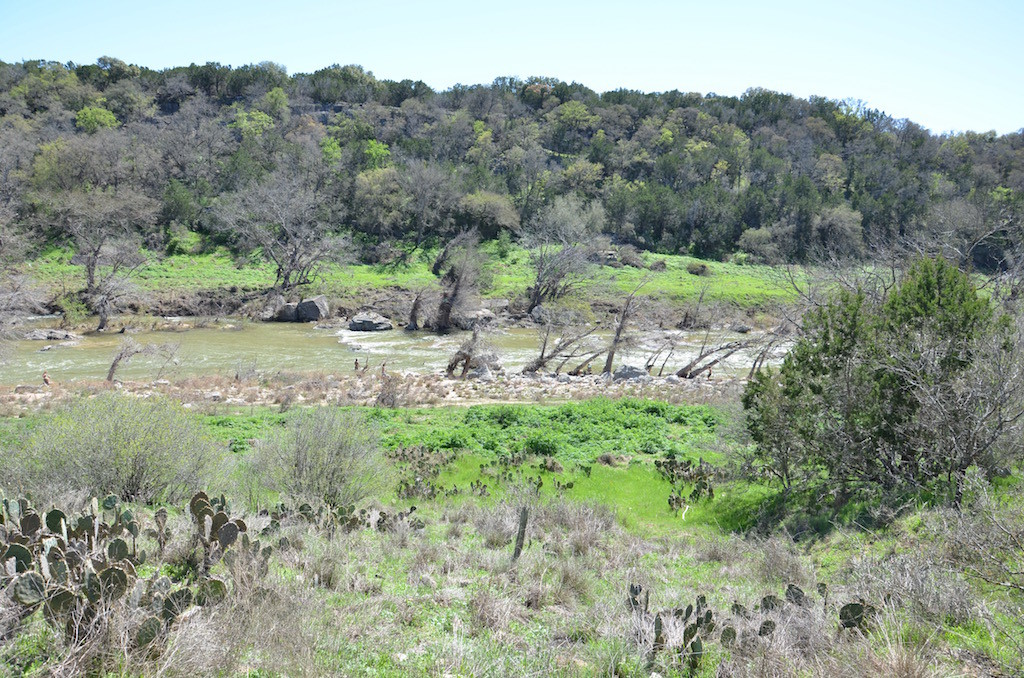 The River below the Pedernales Falls. Notice the light green? That's how high the river was a few moths ago during the flooding!