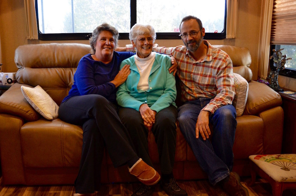 Jan, Aunt Fran and Harry when they visited our home.