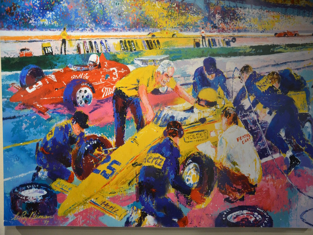 A Leroy Neiman painting they had there of Indy.