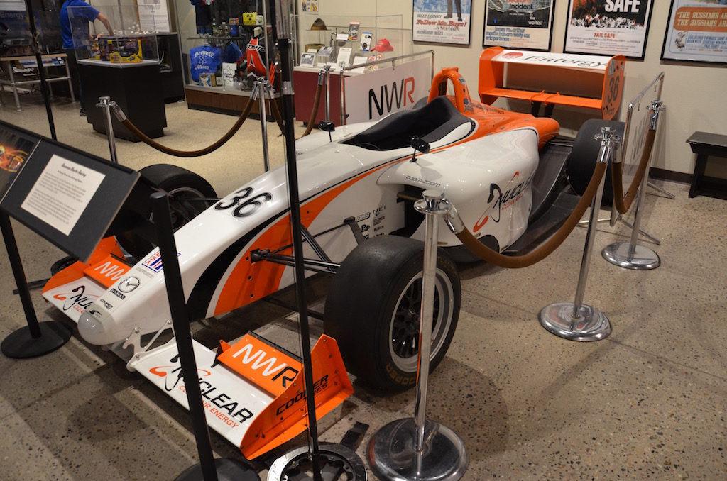 A race car sponsored by Nuclear Clean air & Energy; part of the Paul Neuman team.