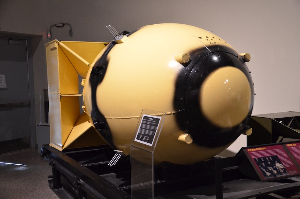 Butter casing of the Fat Boy bomb dropped in Japan.