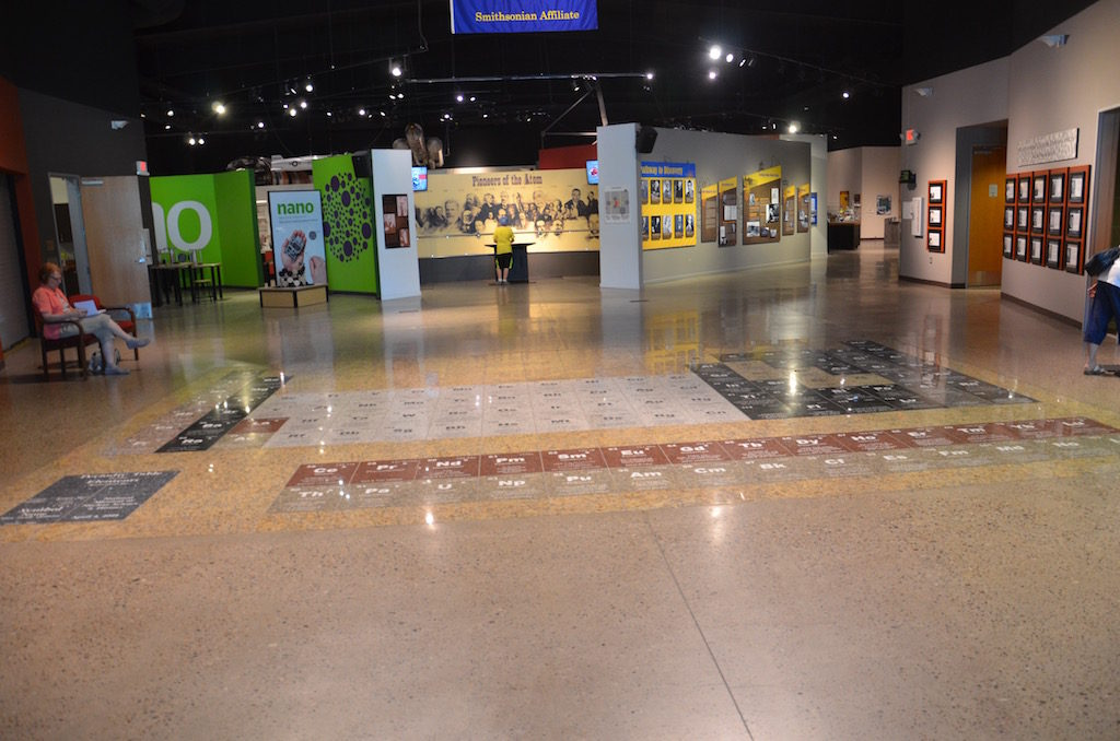 The main lobby has the Periodic Table embedded as part of the floor.