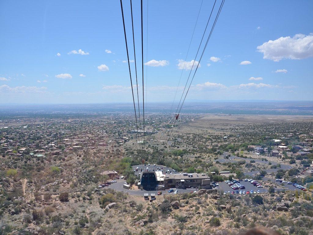 The other gondola returning as we went up.