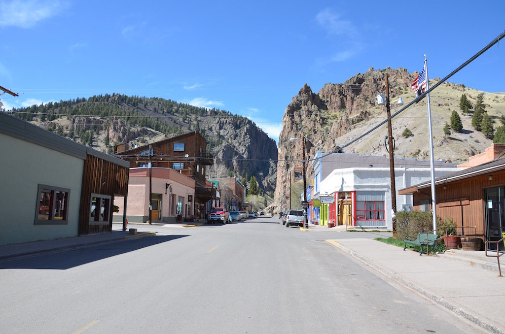Downtown Creede. The main street leads right up to the Bulldog Mine and the Bachelors Loop (later in this Blog)