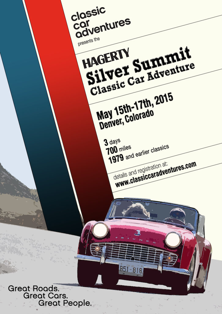 The Hagerty Silver Summit Classic Car Event came through town that day; cool cars!