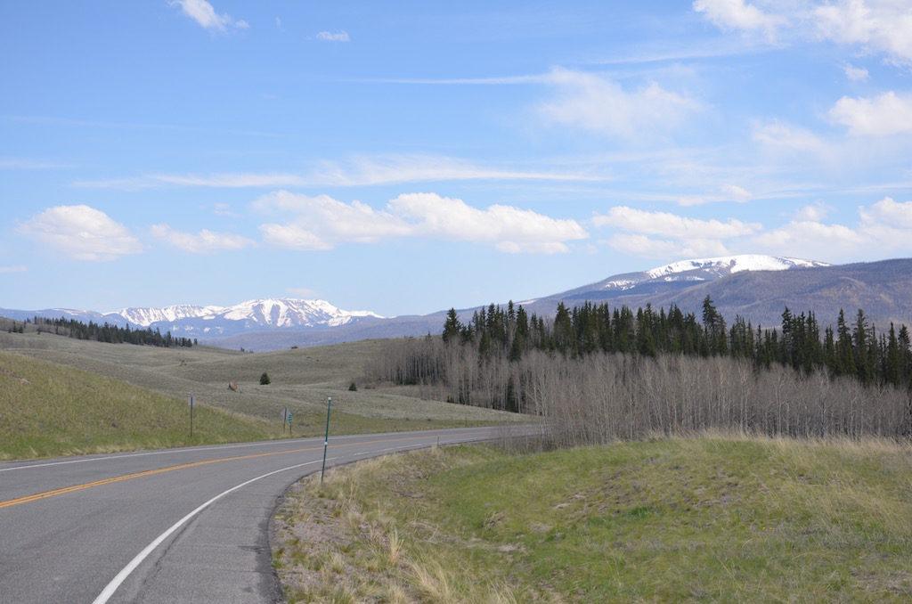 Beautiful drive towards Lake City