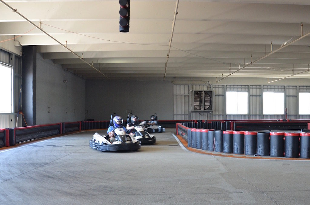 Bryce took us to Unser indoor Kart Racing. Bryce and I raced while Jan was the official photographer. We won't talk about my lap times!
