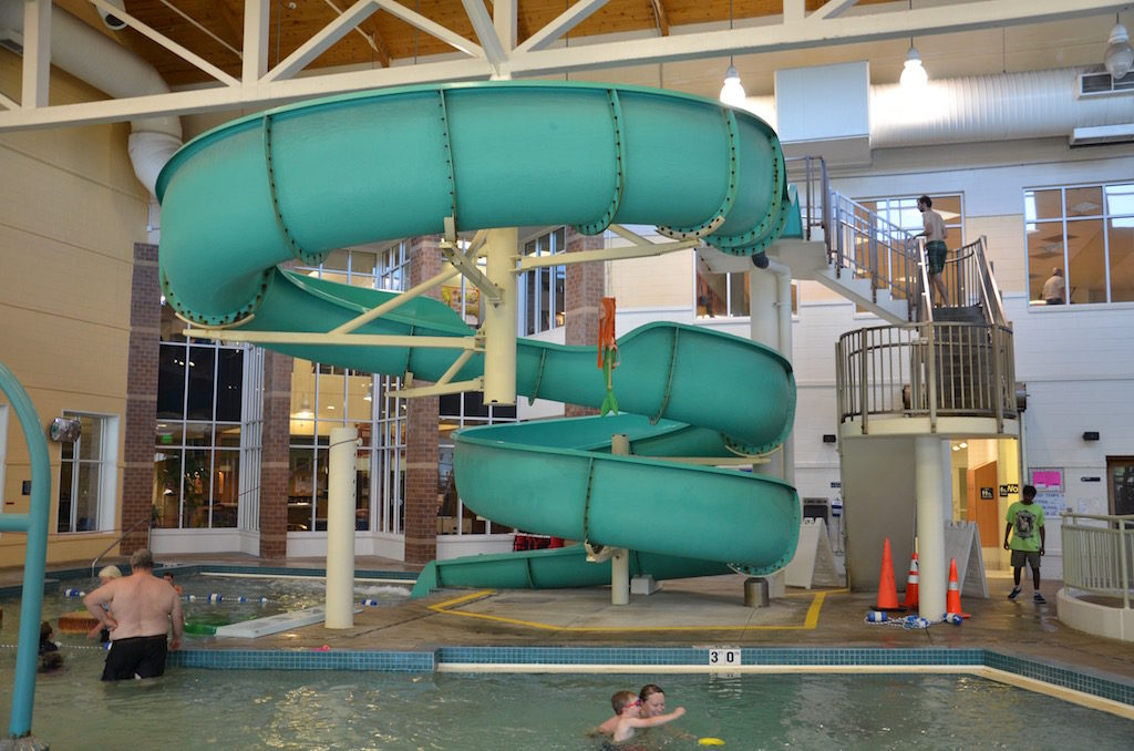 But the biggest hit for Reeve? The indoor waterpark and GIANT slide!
