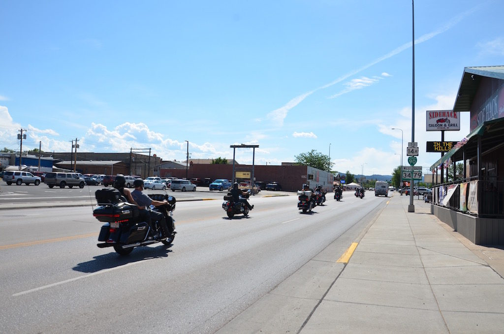 Downtown Sturgis (with the obligatory Harley's of course!)