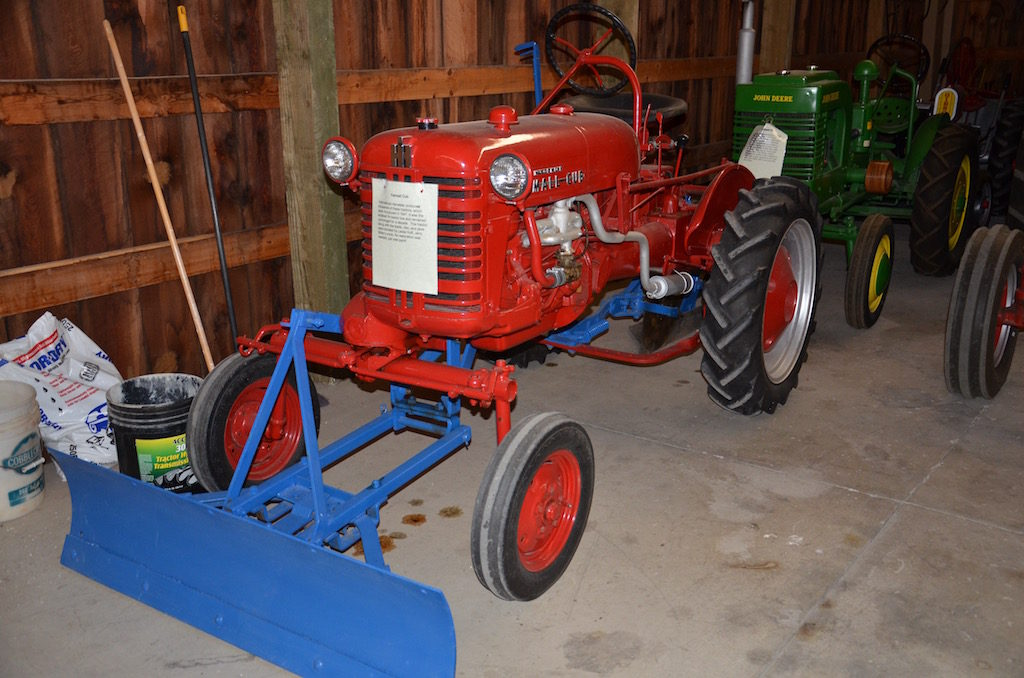 MANY old farm tractors and other vehicles. Very cool!