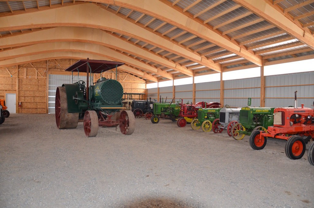 "Inside ""The North 40"" The big tractor was HUGE! Those are normal size farm tractors next to it!"