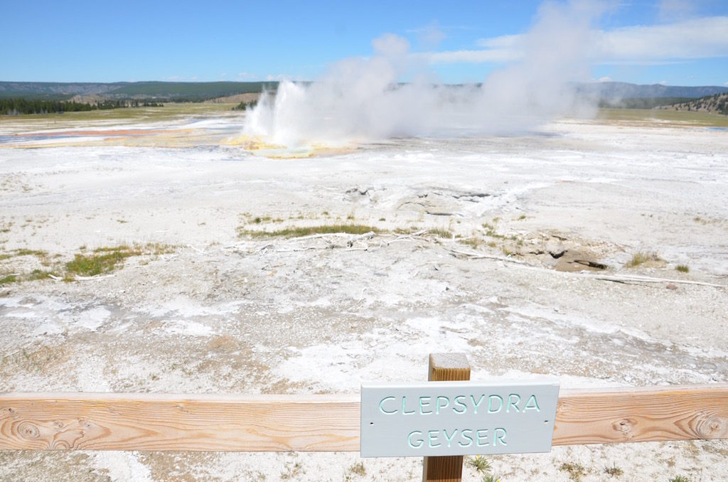 This geyser isn't anywhere near the size of Old Faithful, but it erupts every few minutes.