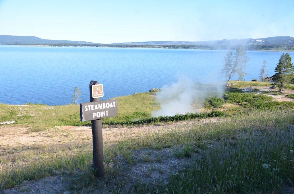 Steamboat Point on Yellowstone Lake