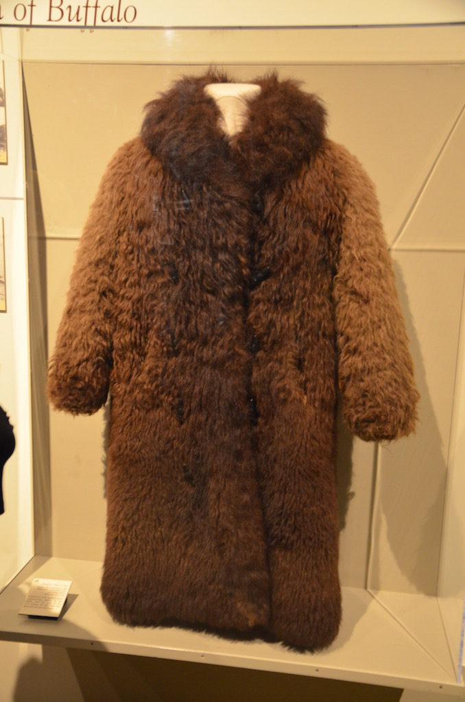 Buffalo fur coat worn in winter by the indians.