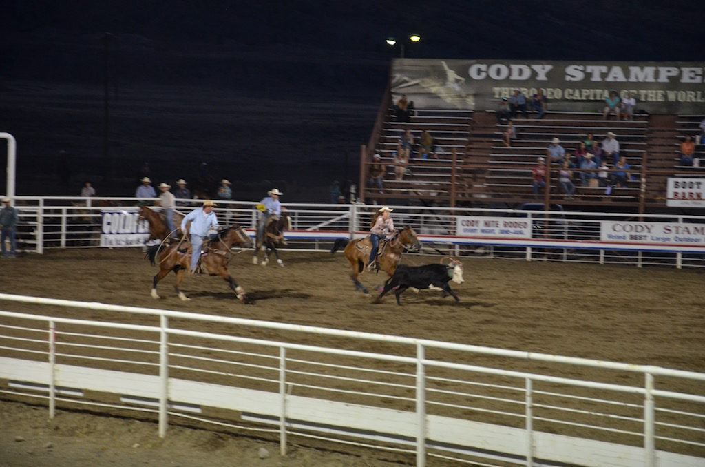 And Team cattle roping.