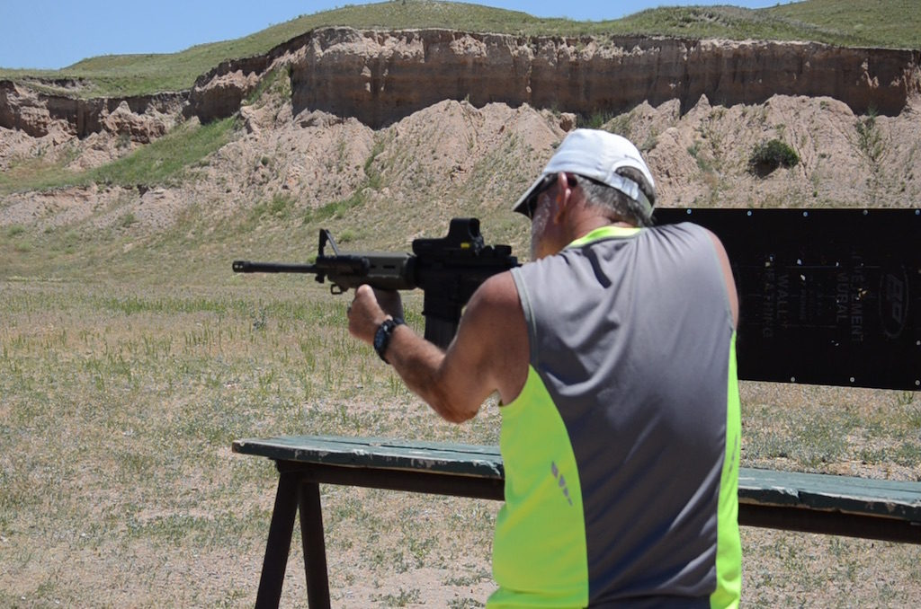 I even got my chance to shoot Steve's AR15, how cool!