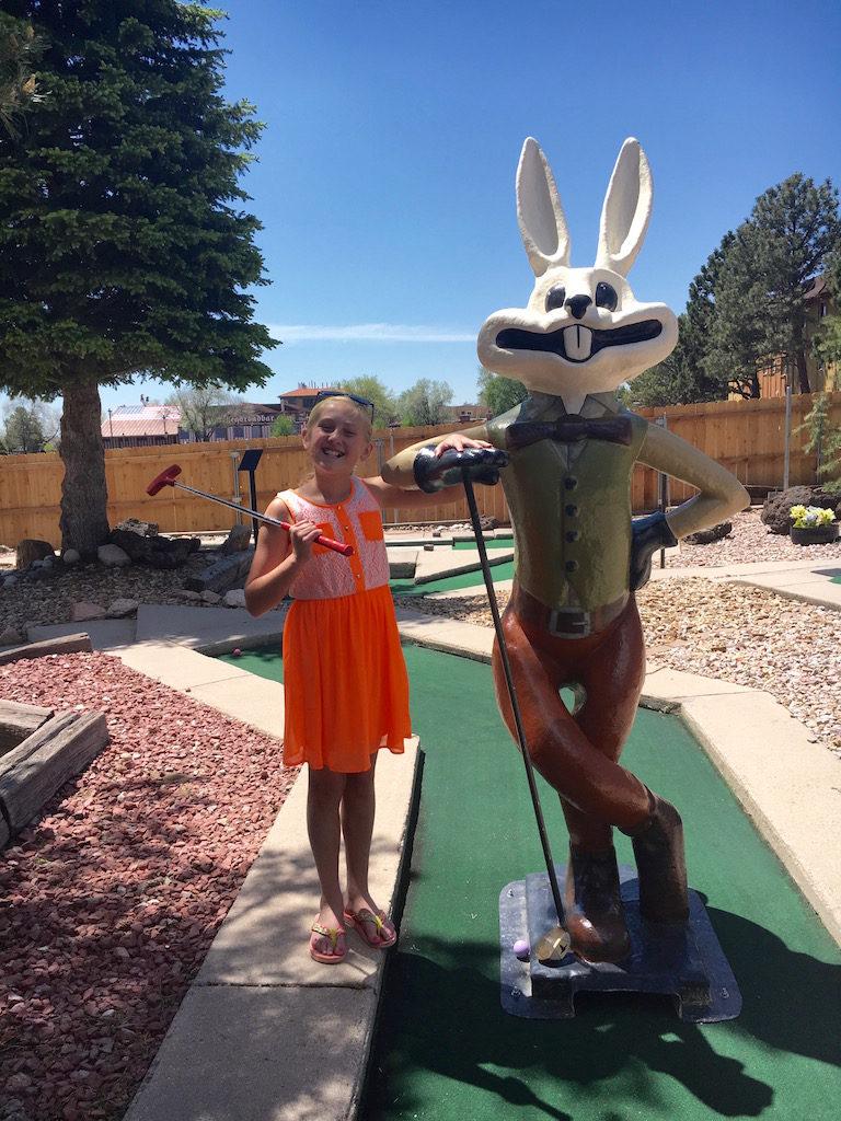 Next up- Miniature golf!