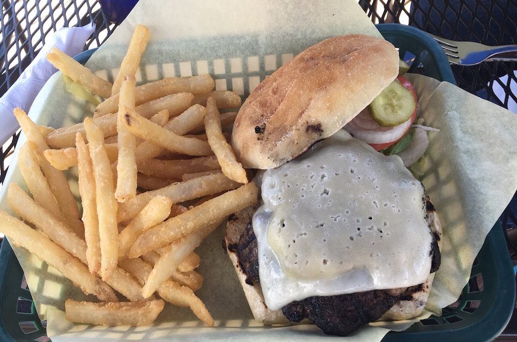 I had a great Elk burger; one of the many great local items on the menu.