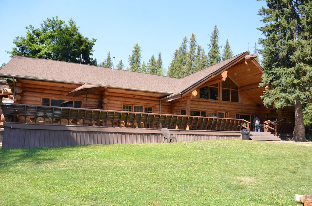 We had lunch at Lochsa Lodge, a beautiful hand hewn log lodge!