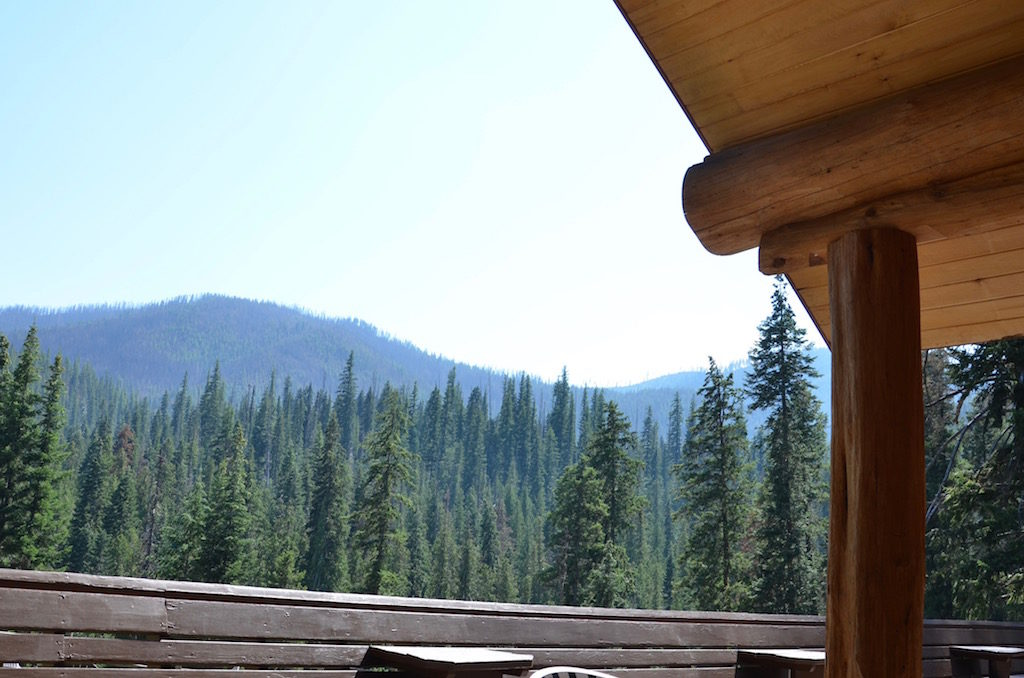 View from the back dining patio of the lodge.
