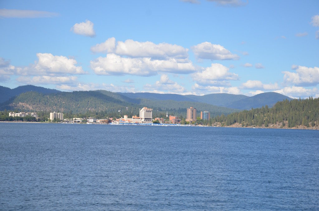 View of downtown Coeur d'Alene from the boat.