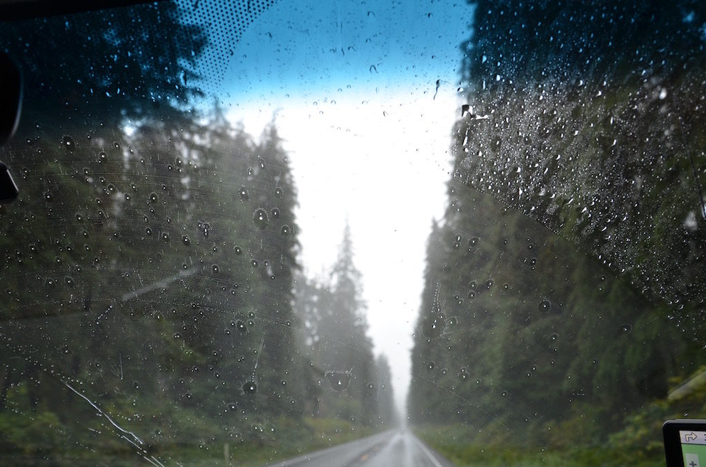 As we arrived it rained constantly all day.